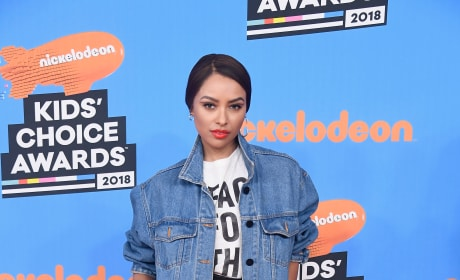 Kat Graham Attends Nickelodeon Event
