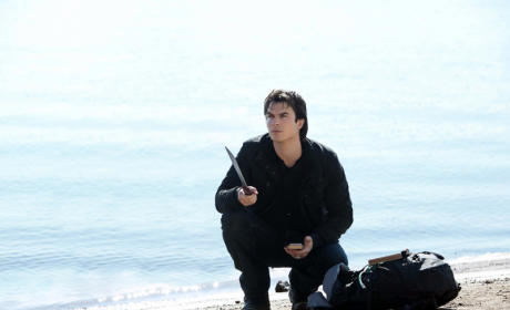 Damon with a Machete