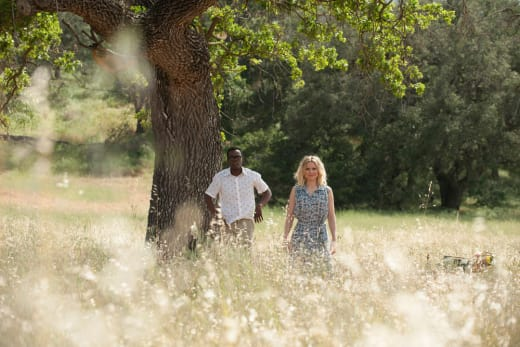 Chidi and Eleanor in Field - The Good Place Season 2 Episode 2