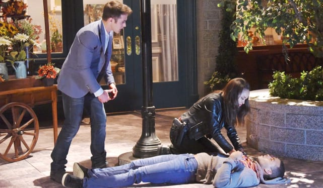 JJ Shooting Theo on Days of Our Lives