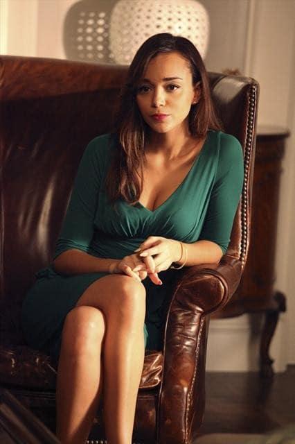 Ashley in a Green Dress