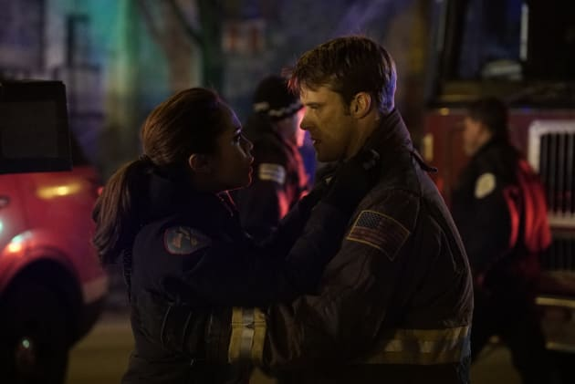 Casey And Dawson Share A Moment - Chicago Fire Season 5 Episode 12