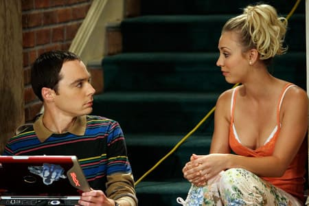 Penny and Sheldon Outside