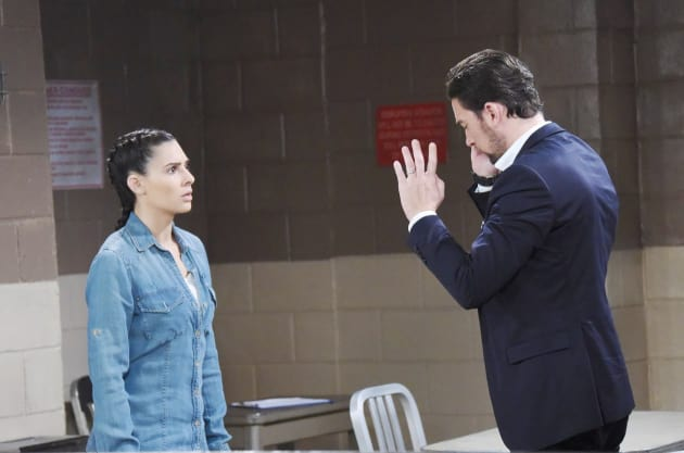 Chad Visits Gabi - Days of Our Lives