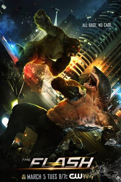 Grodd Vs. Shark - The Flash Season 5 Episode 15