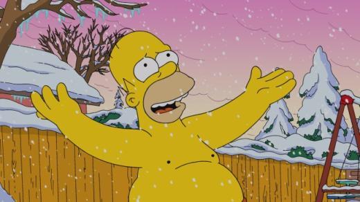 Shirtless Homer in Wonderland