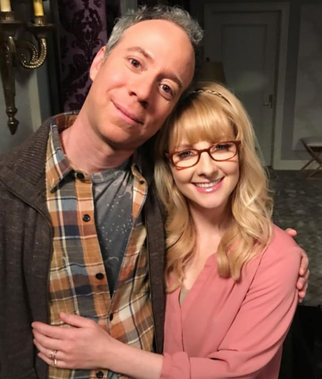 Kevin Sussman and Melissa Rauch