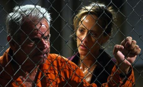 Kim Raver and William Devane on 24