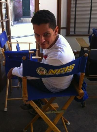Rivas on NCIS Set