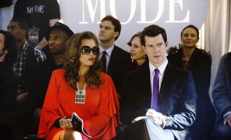 Daniel and Wilhelmina at Fashion Week