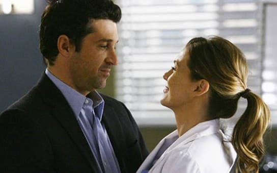 "Derek and Meredith post-it 'wedding' -- Greys Anatomy, ""Now or Never"""