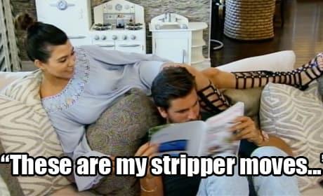 Kourtney Kardashian, Sort of Stripping