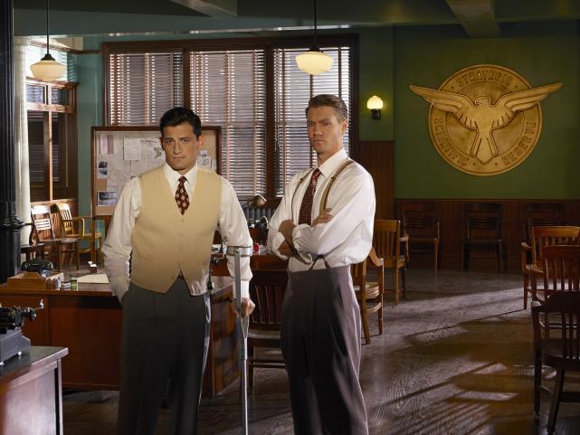 Peggy Carter, Daniel Sousa, and Jack Thomspon (Marvel's Agent Carter)