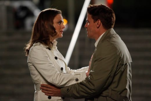 Booth, Brennan Embrace