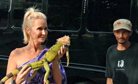 Kim and an Iguana