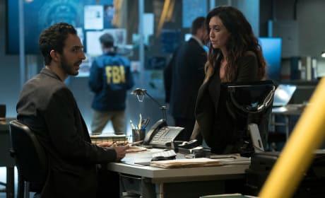 Aram talks with Samar - The Blacklist Season 4 Episode 14