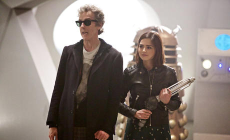The Doctor and Clara on Skaro - Doctor Who Season 9 Episode 2