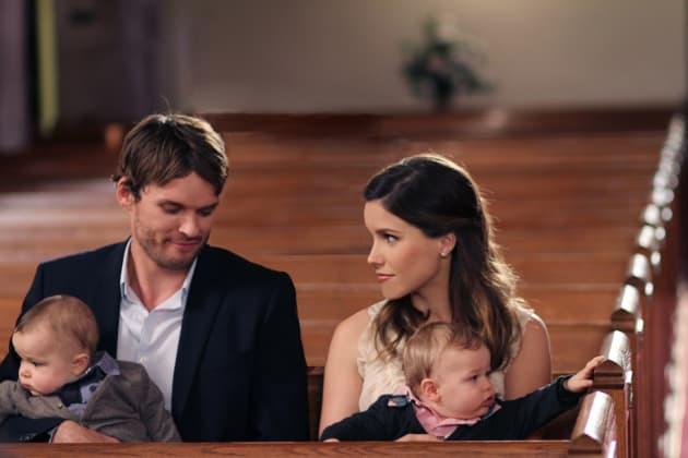 Julian and Brooke in Church
