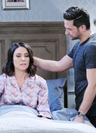 Stefan Comforts Chloe - Days of Our Lives