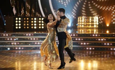 Mirai Nagasu in Gold - Dancing With the Stars: Athletes Season 26 Episode 3
