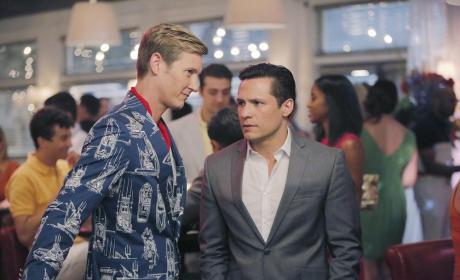 Nolan Whispers to Jack - Revenge Season 4 Episode 10