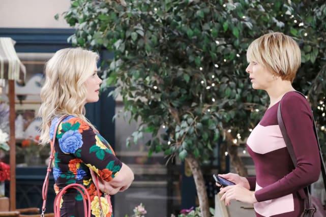 """Sami confronts """"Nicole""""."""