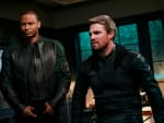 Oliver and Diggle - Arrow Season 8 Episode 2