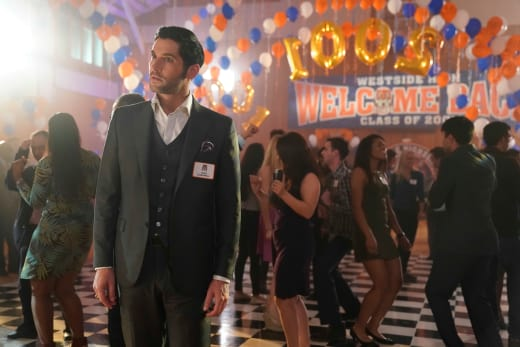 Lucifer Looks Lost in High School Season 3 Episode 15