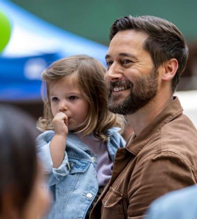 A Happy Dad - tall  - New Amsterdam Season 4 Episode 1