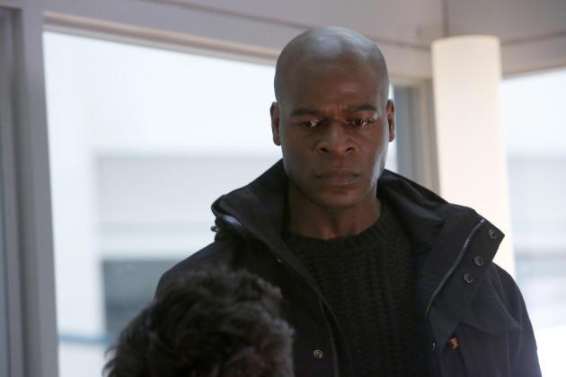 Dembe doesn't look happy - The Blacklist Season 4 Episode 16