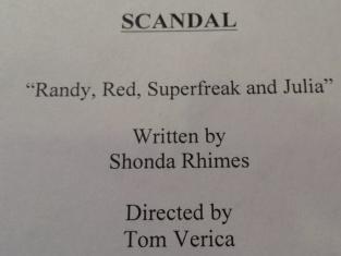 Scandal Script Page
