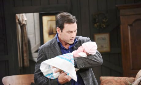 Stefan Bonds With the Baby - Days of Our Lives
