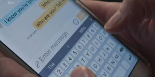 Laura's Secret Text - Liar Season 1 Episode 2