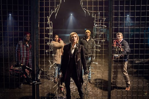 There is a hole in that fence - Doctor Who Season 11 Episode 1