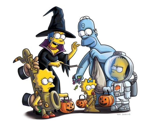 The Simpsons on Halloween