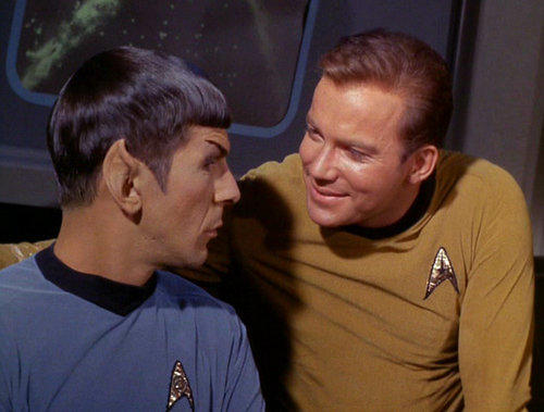 Captain kirk and mr spock star trek