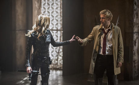 Black Canary and John Constantine - Arrow Season 4 Episode 5