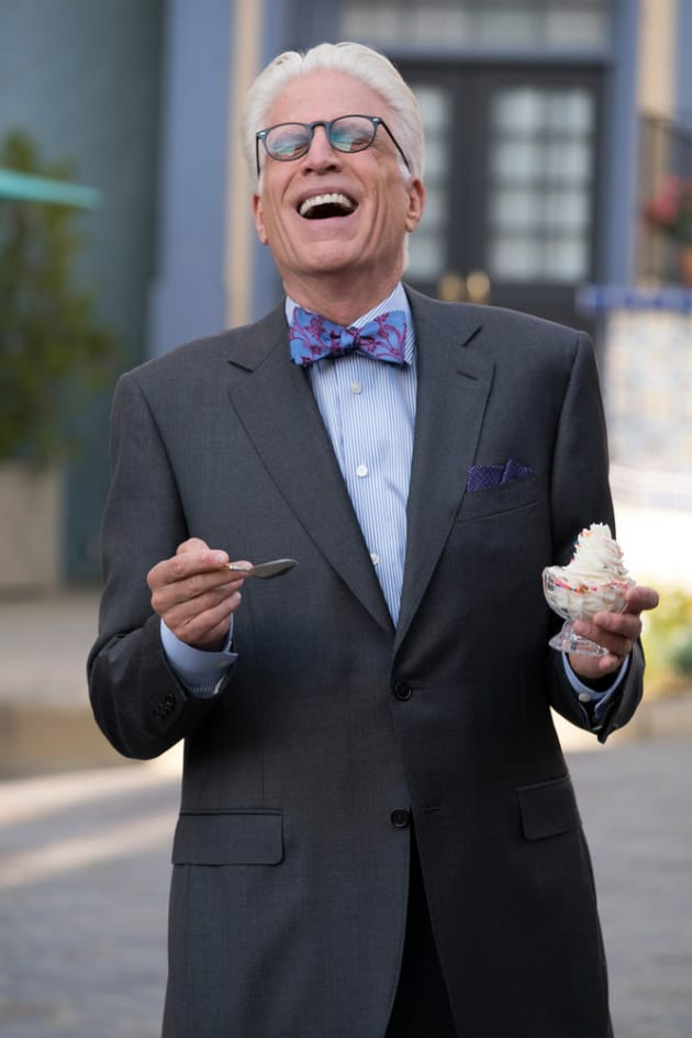 Michael and FroYo - The Good Place Season 2 Episode 7