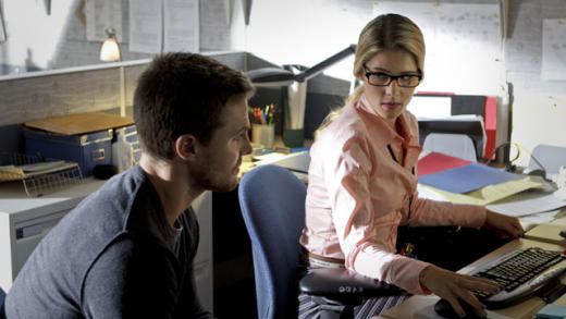 Emily Bett Rickards on Arrow