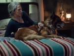 Carol and Dog Chilling - The Walking Dead