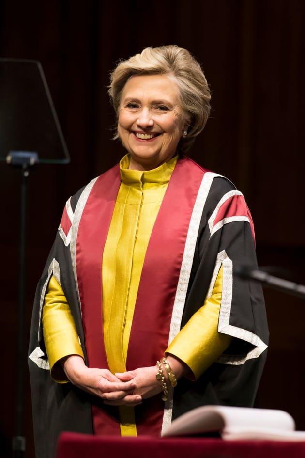 Hillary Clinton Accepts Award