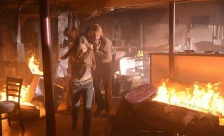 Fiery Scene