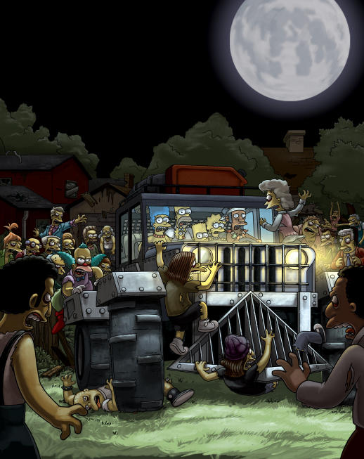 Zombies Attack The Simpsons!