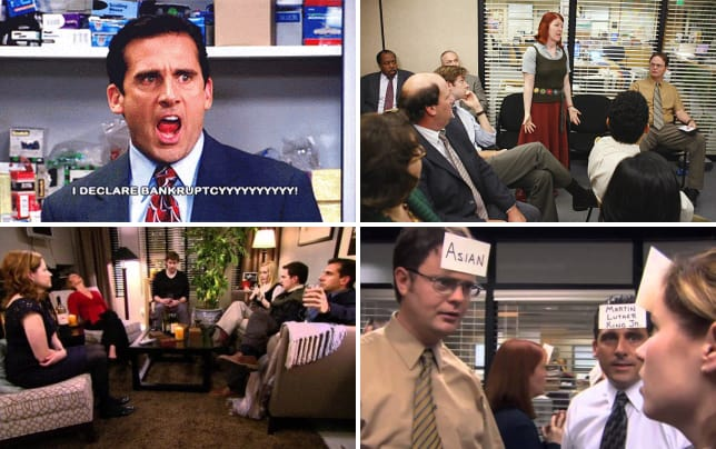 Michael declares bankruptcy the office