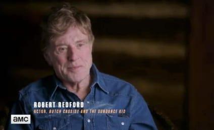 The American West Clip: Burt Reynolds and Robert Redford Talk Jesse James