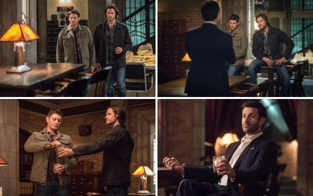 Sam and dean relax in the bunker supernatural season 12 episode