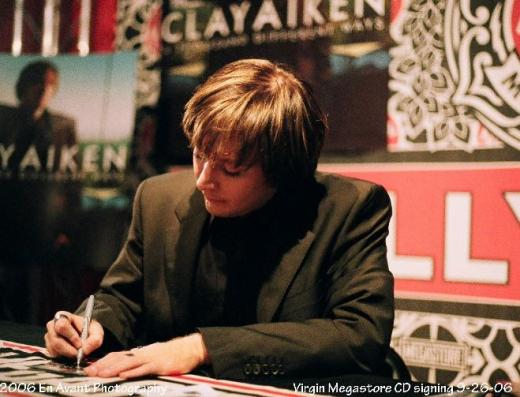 Clay Signs Our Writer's CD!