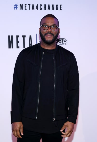 Tyler Perry Attends META Event