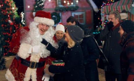 Leslie and Santa