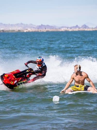 Trevor Donovan in the Water